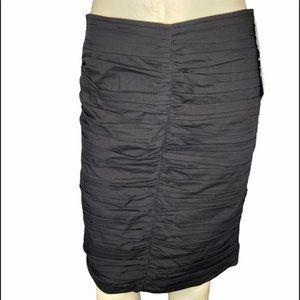 NWT Joseph Ribkoff black centre ruched skirt